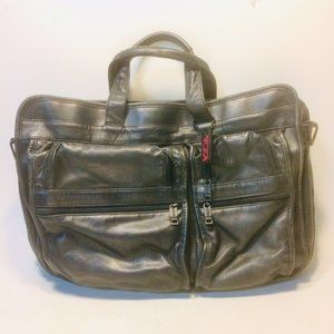Tumi Expandable Leather Briefcase Carry-On